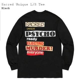 シュプリーム(Supreme)の送料無料 Supreme Sacred Unique L/S Tee 黒S(Tシャツ/カットソー(七分/長袖))