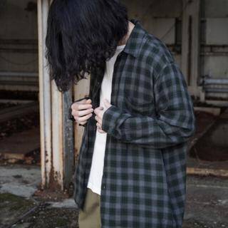 コモリ(COMOLI)のコモリ オープンカラー レーヨンシャツ サイズ1  オーラリー(シャツ)