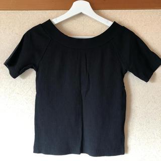 ミーア(MIIA)のリブニットトップス(Tシャツ(半袖/袖なし))