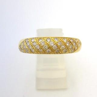 キョウセラ(京セラ)のK18 クレサンベール パヴェダイヤリング 0.31ct  12.5号(リング(指輪))
