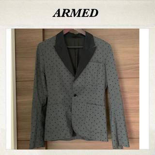 アームド(ARMED)の【春夏薄手ジャケット】ARMED アームド ドット柄 デート ディナー(テーラードジャケット)