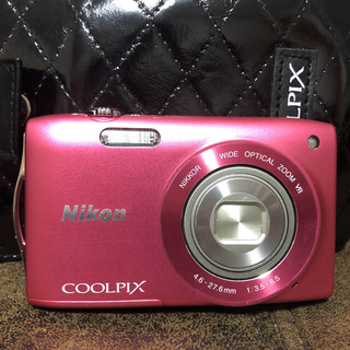 ニコン(Nikon)の美品 Nikon COOLPIX Style COOLPIX S3300 ピンク(コンパクトデジタルカメラ)