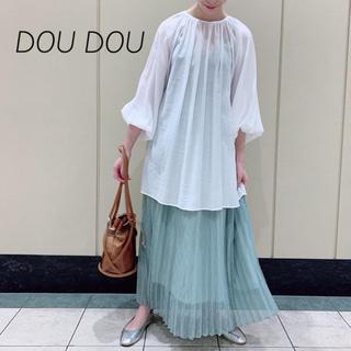 ドゥドゥ(DouDou)の春新作❁DOU DOU バックオープンギャザーブラウス(シャツ/ブラウス(長袖/七分))