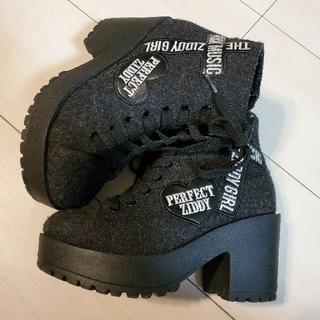 ジディー(ZIDDY)のZIDDY ブーツ グレー20cm&Tシャツ(ブーツ)