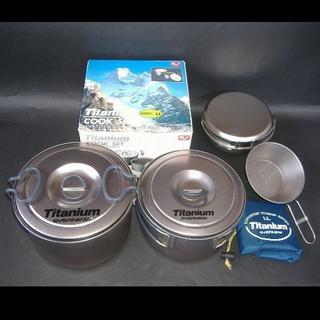 エバニュー(EVERNEW)のエバニュー チタンクッカーセットLL・チタンシェラカップ・その他容器(調理器具)