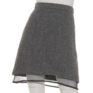 ファーファー(fur fur)のFURFUR スカート グレー(ひざ丈スカート)