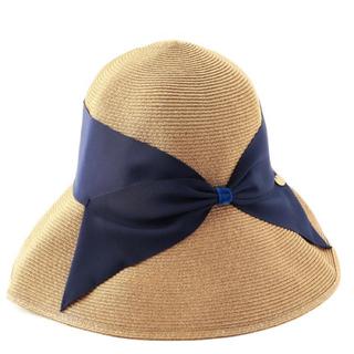トゥモローランド(TOMORROWLAND)の新品 ATHENA NEW YORK RISAKO ネイビー(麦わら帽子/ストローハット)