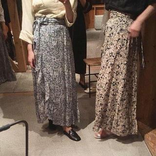 ISABEL MARANT ETOILEリネンロング巻きスカート イザベルマラン