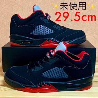 ナイキ(NIKE)の【新品未使用】NIKE AIR JORDAN 5 LOW BLACK RED(スニーカー)