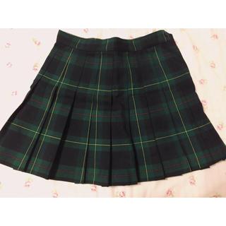 アメリカンアパレル(American Apparel)のアメアパ 緑チェックスカート(ミニスカート)