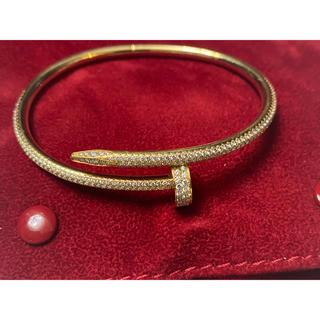 カルティエ(Cartier)のカルティエ ブレスレット ジュストアンクル 純正ダイヤ (ブレスレット)
