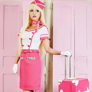 ジュエルズ Barbieスチュワーデス風コスプレ