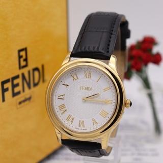 フェンディ(FENDI)の正規品【新品電池】FENDI 25000G/2019年購入品 ギョーシェ彫り(腕時計(アナログ))