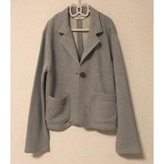 ナイスクラップ(NICE CLAUP)のジャケット【NICE CLAUP】【新品未使用】グレー☆スウェット 春先用(テーラードジャケット)