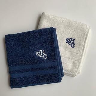 ロンハーマン(Ron Herman)のロンハーマン☆ ハンドタオル【Navy&White】2枚セット(ハンカチ/ポケットチーフ)