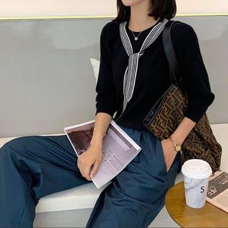ゴゴシング(GOGOSING)のスカーフ付き カットソー 韓国(カットソー(長袖/七分))
