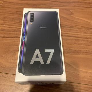 ギャラクシー(Galaxy)のGalaxy A7 simフリースマートフォン 黒 ブラック(スマートフォン本体)