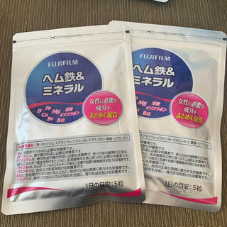 フジフイルム(富士フイルム)のFUJIFILM ヘム鉄&ミネラル 2袋セット(ビタミン)