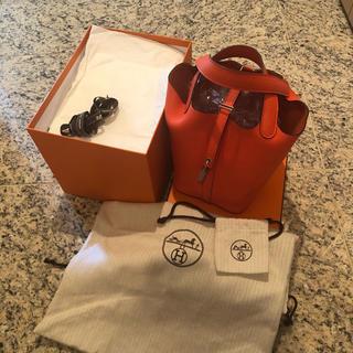 エルメス(Hermes)の【超美品】C刻印 HERMES ピコタン オレンジ ポピー(ハンドバッグ)