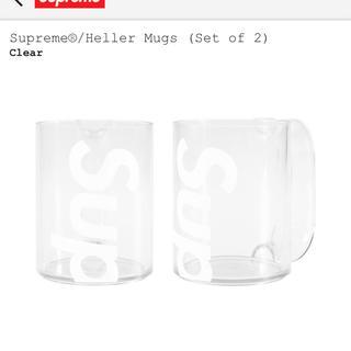 シュプリーム(Supreme)のsupreme Heller Mugs (set of 2) 白 クリア(グラス/カップ)
