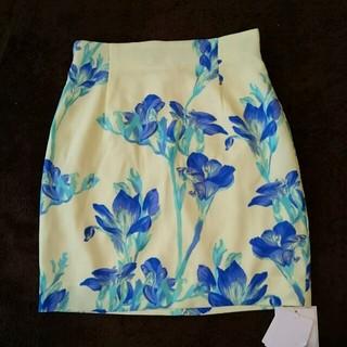 マーキュリーデュオ(MERCURYDUO)のMERCURY DUO 花柄スカート(ミニスカート)