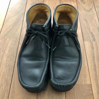 ホーキンス(HAWKINS)のホーキンス ワラビー ブーツ ブラック メンズ 靴 シューズ 26.0cm(ブーツ)