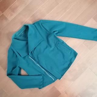 リミフゥ(LIMI feu)のLIMI feuライダースジャケット深緑色(ライダースジャケット)
