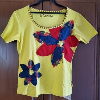 エルロデオ(EL RODEO)のEL RODEO お花のTシャツ(Tシャツ(半袖/袖なし))