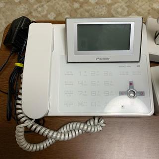 パイオニア(Pioneer)のパイオニア電話機 子機2台付き 中古(その他)