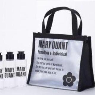 マリークワント(MARY QUANT)のマリークワント スパバッグ(黒)&詰め替えボトル3本セット(日用品/生活雑貨)