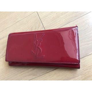イヴサンローランボーテ(Yves Saint Laurent Beaute)のイヴサンローラン エナメル長財布(財布)