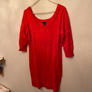 エイチアンドエム(H&M)の美品☆赤ワンピ(ミニワンピース)