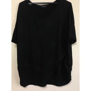 ディスコート(Discoat)の黒トップス(Tシャツ(半袖/袖なし))