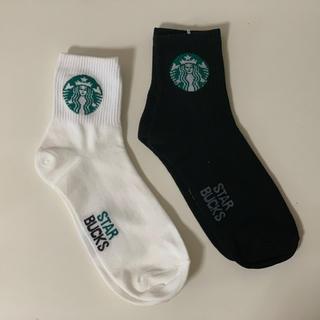 スターバックスコーヒー(Starbucks Coffee)のスタバ 靴下 ソックス 2足セット(ソックス)