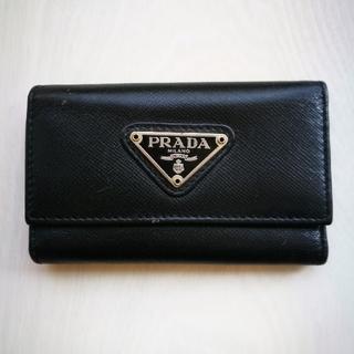 プラダ(PRADA)のPRADA プラダ キーケース 6連 定番 黒革 (キーケース)