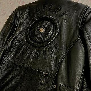ハーレーダビッドソン(Harley Davidson)のHarley Davidson×Willie G シングルライダース Lサイズ(ライダースジャケット)