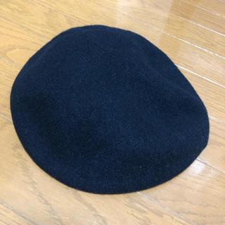 ローリーズファーム(LOWRYS FARM)のローリーズファーム パイピング ベレー帽 黒(ハンチング/ベレー帽)