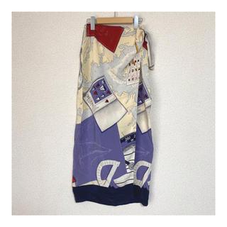 ラルフローレン(Ralph Lauren)の地図柄ラップスカート(ロングスカート)