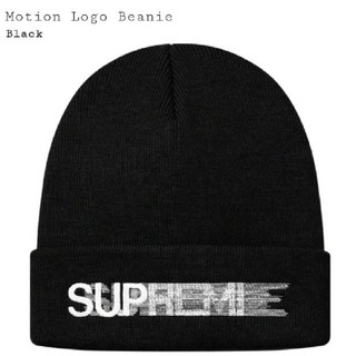 シュプリーム(Supreme)の新品20ss Supreme Motion Logo  Beanie black(ニット帽/ビーニー)
