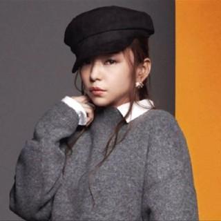エイチアンドエム(H&M)の安室奈美恵 H&M キャスケット 帽子 黒 ブラック(キャスケット)