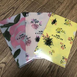 コーチ(COACH)の【新品】非売品 コーチ ミニクリアファイル 3枚 雑誌付録(その他)