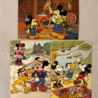 Disney - 【未使用・レア】東京ディズニーランド開園時 ポストカード3枚セット