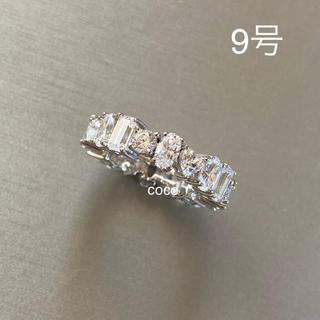 ドゥロワー(Drawer)の最高級 人工ダイヤモンド マルチシェイプフルエタニティ リング(リング(指輪))