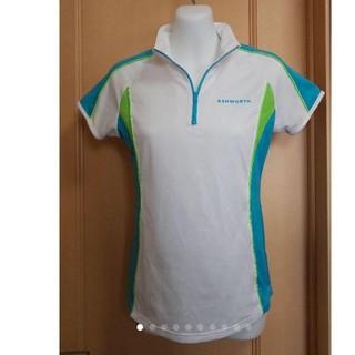 アシュワース(Ashworth)のアシュワース レディースゴルフウェア 半袖シャツ ハイネック ポロシャツ(ウエア)