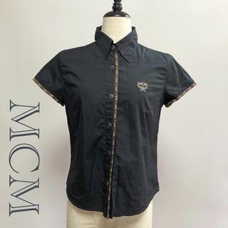 エムシーエム(MCM)のMCM / エムシーエム 半袖シャツ ブラック M レディース ブラウス(シャツ/ブラウス(半袖/袖なし))