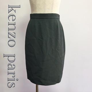 ケンゾー(KENZO)のKENZO paris ペンシル スカート カーキ 緑 38 レディース(ひざ丈スカート)