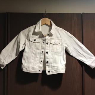 【GU】ホワイトデニム ジャケット 110