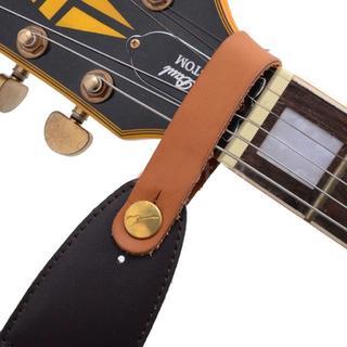 大人気★ギター ネック ストラップ ホルダー ブラウン A17(ストラップ)