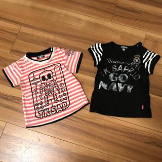 ティーケー(TK)のTK SAPKID 女の子Tシャツ2枚セット 90cm(Tシャツ/カットソー)