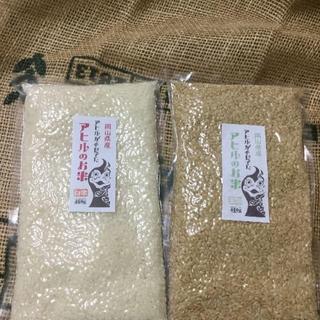 元年度岡山県備前市産「アヒルのお米」お得!3合パック×2:玄米&白米(米/穀物)